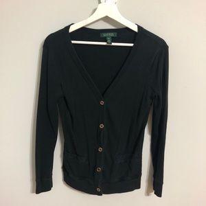 Ralph Lauren black jacket/cardigan w/ gold buttons